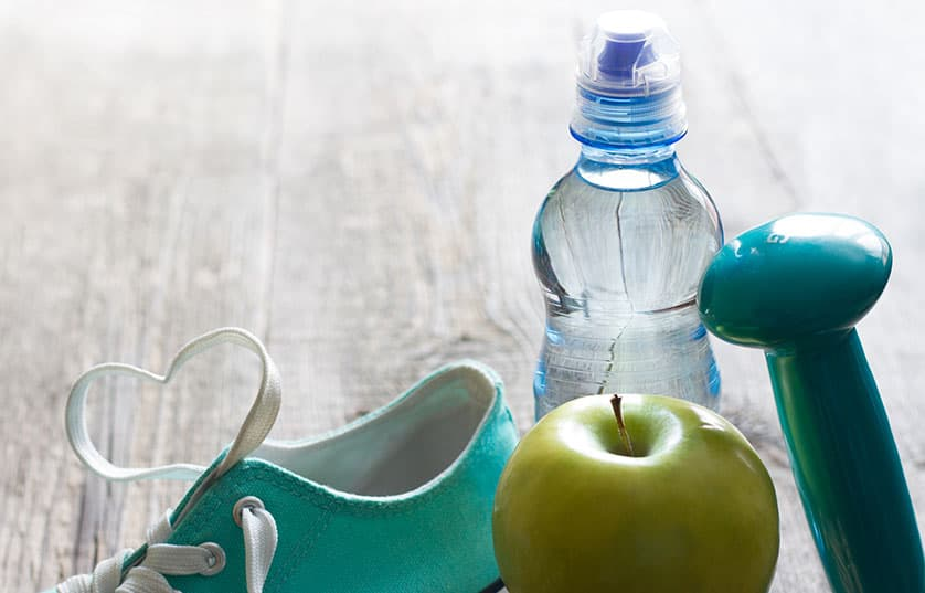 Shoe, apple, weight, water