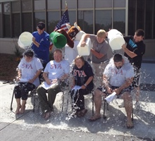 Student Veterans Take Ice Bucket... Monday, August 25, 2014