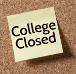 College Closed for Spring Holiday 4/2/2021